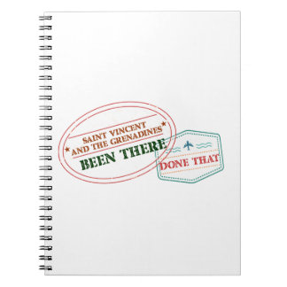 Saint Vincent and The Grenadines Been There Done T Spiral Notebook