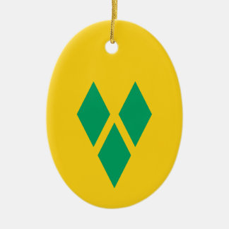 Saint Vincent and the Grenadines Ceramic Oval Ornament