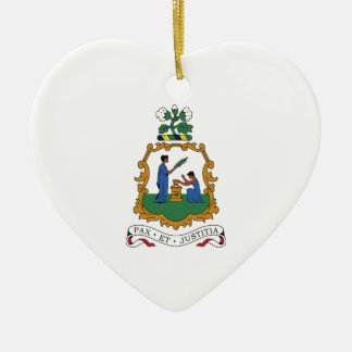 Saint Vincent and the Grenadines Coat of Arms Ceramic Heart Ornament