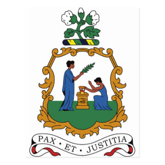Saint Vincent and the Grenadines Coat of Arms Postcard