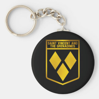 Saint Vincent and the Grenadines Emblem Keychain