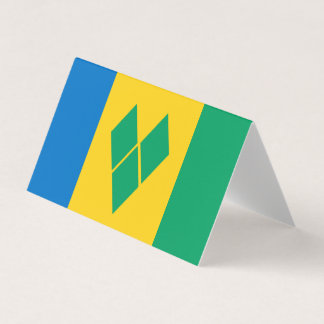 Saint Vincent and the Grenadines Flag Business Card