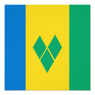 Saint Vincent and the Grenadines Flag Card