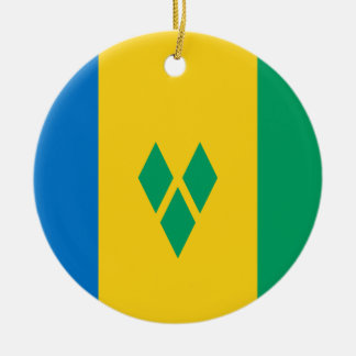 Saint Vincent and the Grenadines Flag Ceramic Ornament