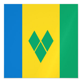 Saint Vincent and the Grenadines Flag Magnetic Invitations