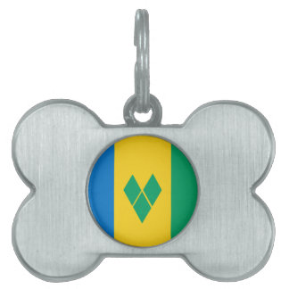 Saint Vincent and the Grenadines Flag Pet Tags