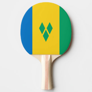 Saint Vincent and the Grenadines Flag Ping Pong Paddle