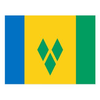 Saint Vincent and the Grenadines Flag Postcard