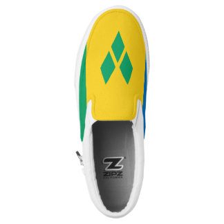 Saint Vincent and the Grenadines Flag Slip-On Sneakers