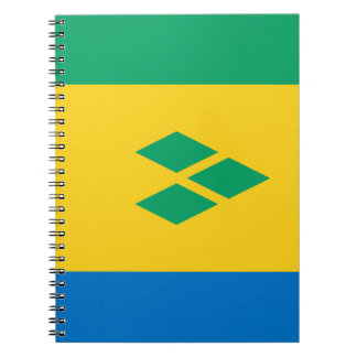Saint Vincent and the Grenadines Flag Spiral Notebook