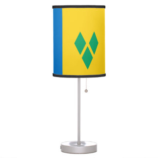 Saint Vincent and the Grenadines Flag Table Lamp