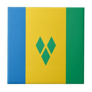 Saint Vincent and the Grenadines Flag Tile