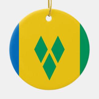 Saint Vincent and the Grenadines Round Ceramic Ornament