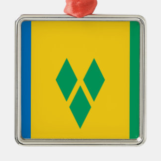 Saint Vincent and the Grenadines Silver-Colored Square Ornament