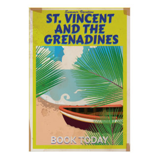 Saint Vincent and the Grenadines Travel Poster