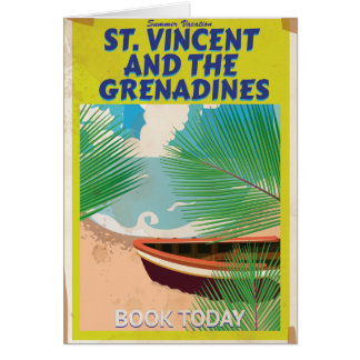 Saint Vincent and the Grenadines Travel Poster Card