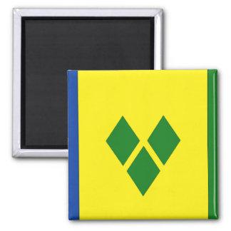 Saint Vincent Flag Square Magnet