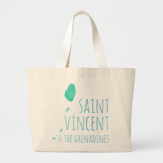 Saint Vincent & the Grenadines Large Tote Bag