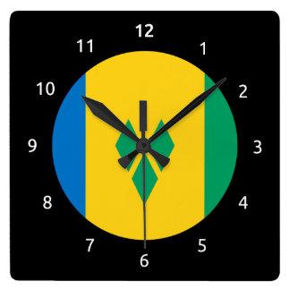Saint Vincentian flag Clock