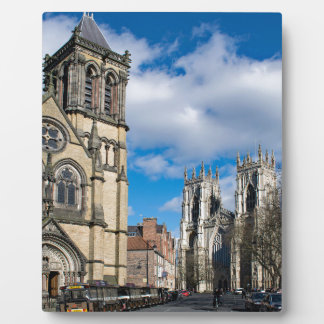 Saint Wilfrids and York Minster. Plaque