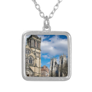 Saint Wilfrids and York Minster. Silver Plated Necklace