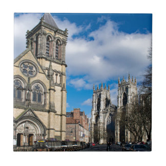 Saint Wilfrids and York Minster. Tile