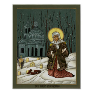 Saint Xenia of St. Petersburg Poster