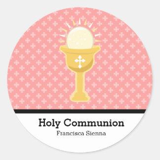 Sainte communion sticker rond