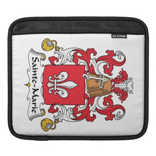 Sainte-Marie Family Crest Sleeves For iPads