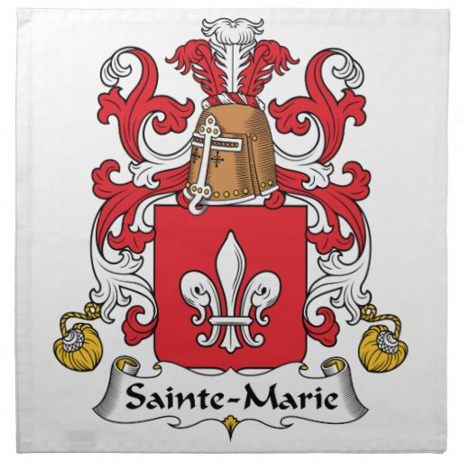 Sainte-Marie Family Crest Printed Napkins