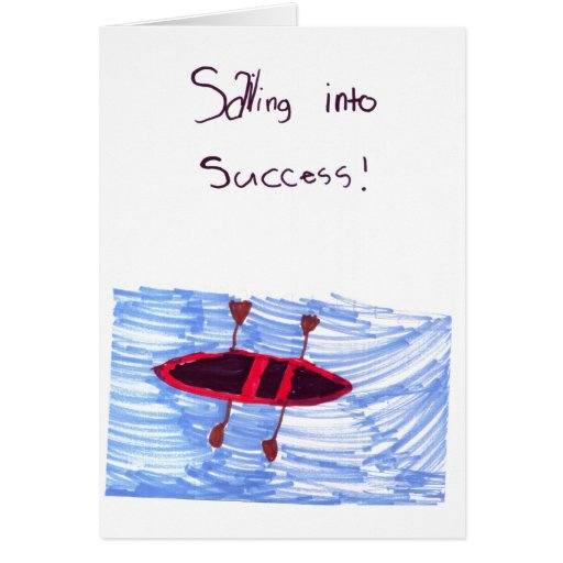 Sainting into success! greeting card