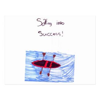 Sainting into success! postcard