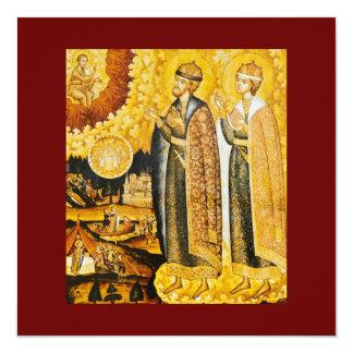 "Saints 5.25"" Square Invitation Card"