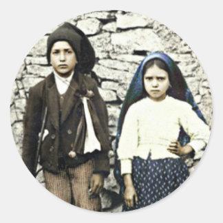 Saints Francisco & Jacinta Marto Canonization Round Sticker