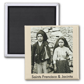 Saints Francisco & Jacinta of Fatima Square Magnet