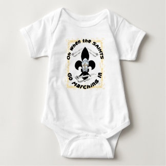 Saints Go Marching In Baby Bodysuit