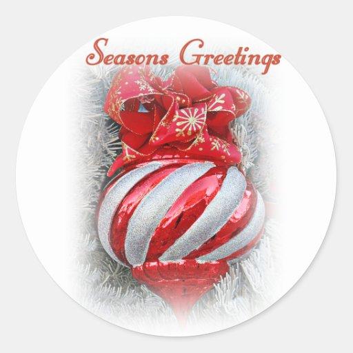 Saison Greetings_ Adhésifs Ronds