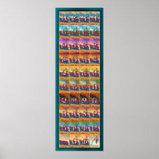 Saisons d'alphabet arménien affiches