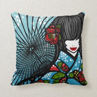 """SajuArt Zen """"Bangasa and Winter Camellia"""" Pillow"""