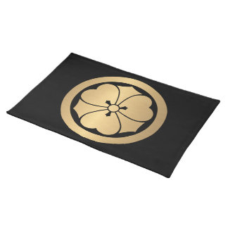 Sakai Mon Japanese samurai clan brushed faux gold Placemat