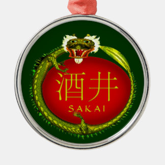 Sakai Monogram Dragon Metal Ornament