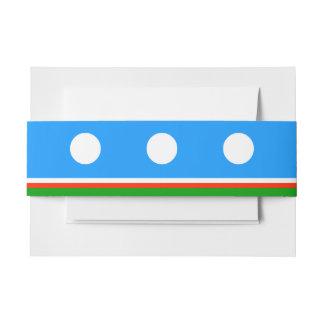 Sakha Republic Flag Invitation Belly Band