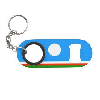 Sakha Republic Flag Mini Bottle Opener
