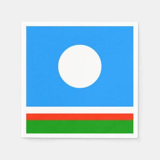 Sakha Republic Flag Paper Napkins