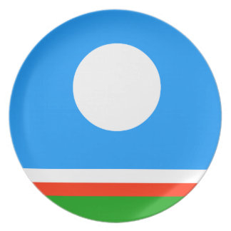 Sakha Republic Flag Party Plate