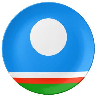 Sakha Republic Flag Porcelain Plate