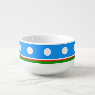 Sakha Republic Flag Soup Bowl With Handle
