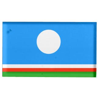 Sakha Republic Flag Table Card Holder
