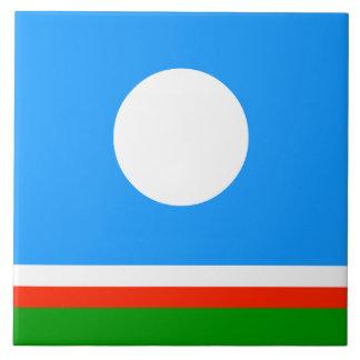 Sakha Republic Flag Tile