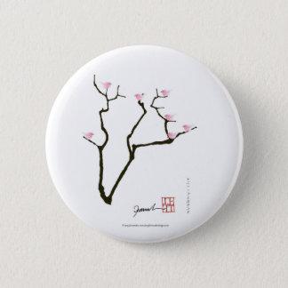 sakura and 7 pink birds 1, tony fernandes 2 inch round button